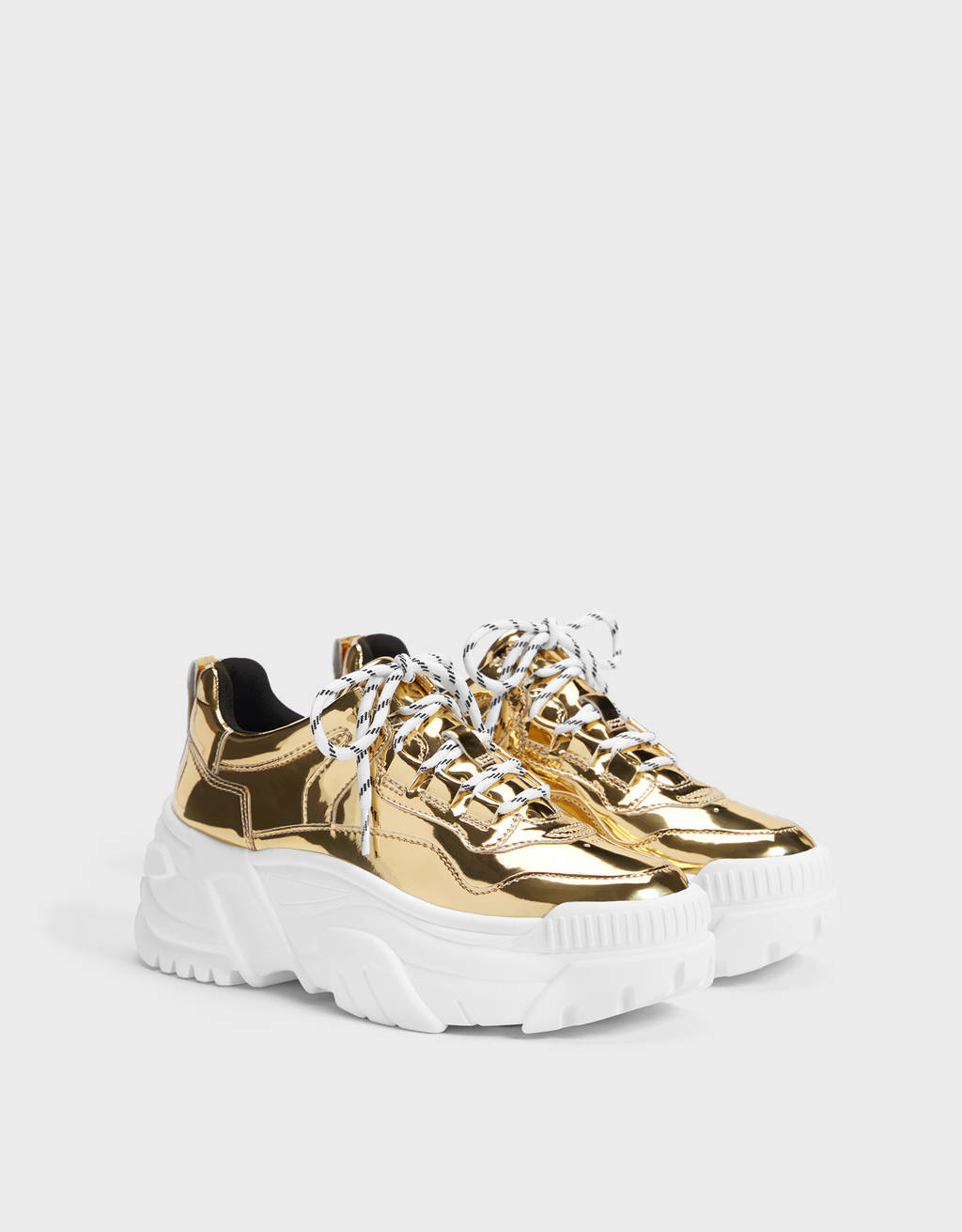 Metallic XL sole trainers