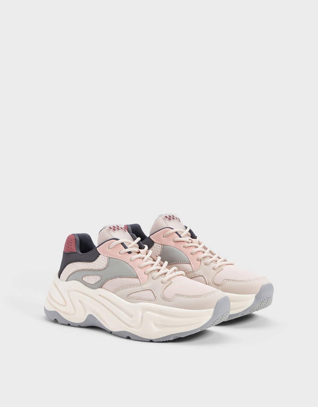 Sneakers combinate suola XL