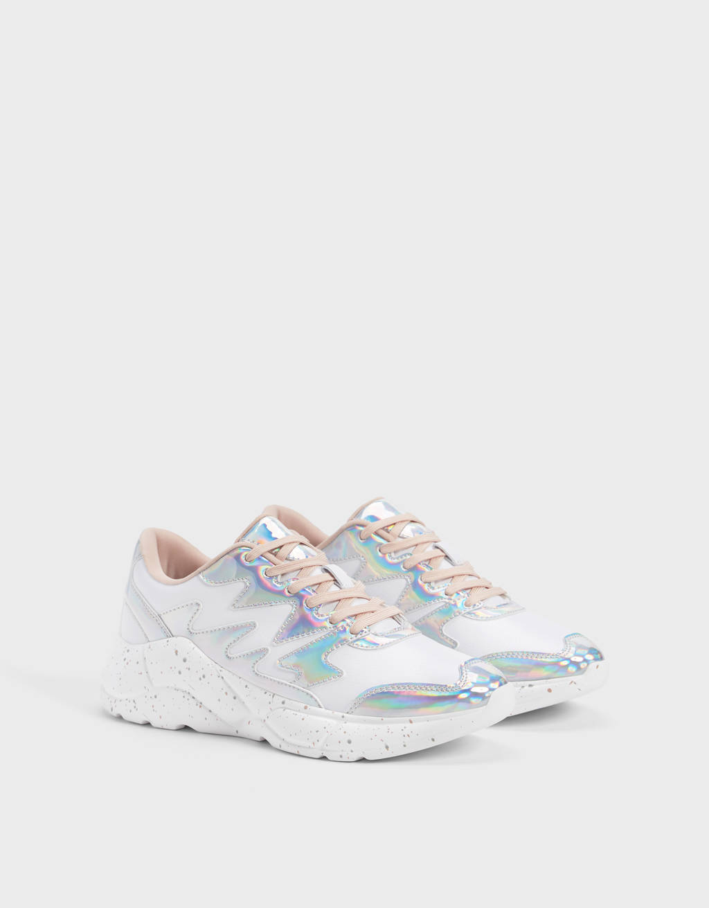 Contrast iridescent trainers