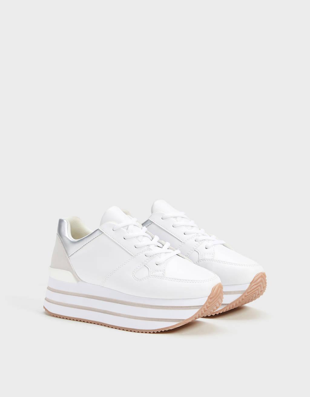 Sneakers combinate con plateau