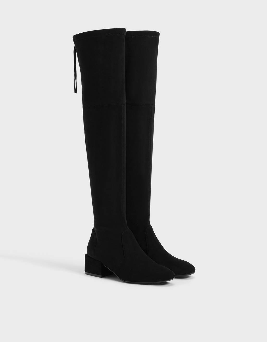 Flat stretch over-the-knee boots