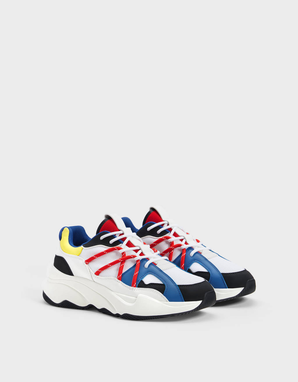 Men's multicoloured rope trainers