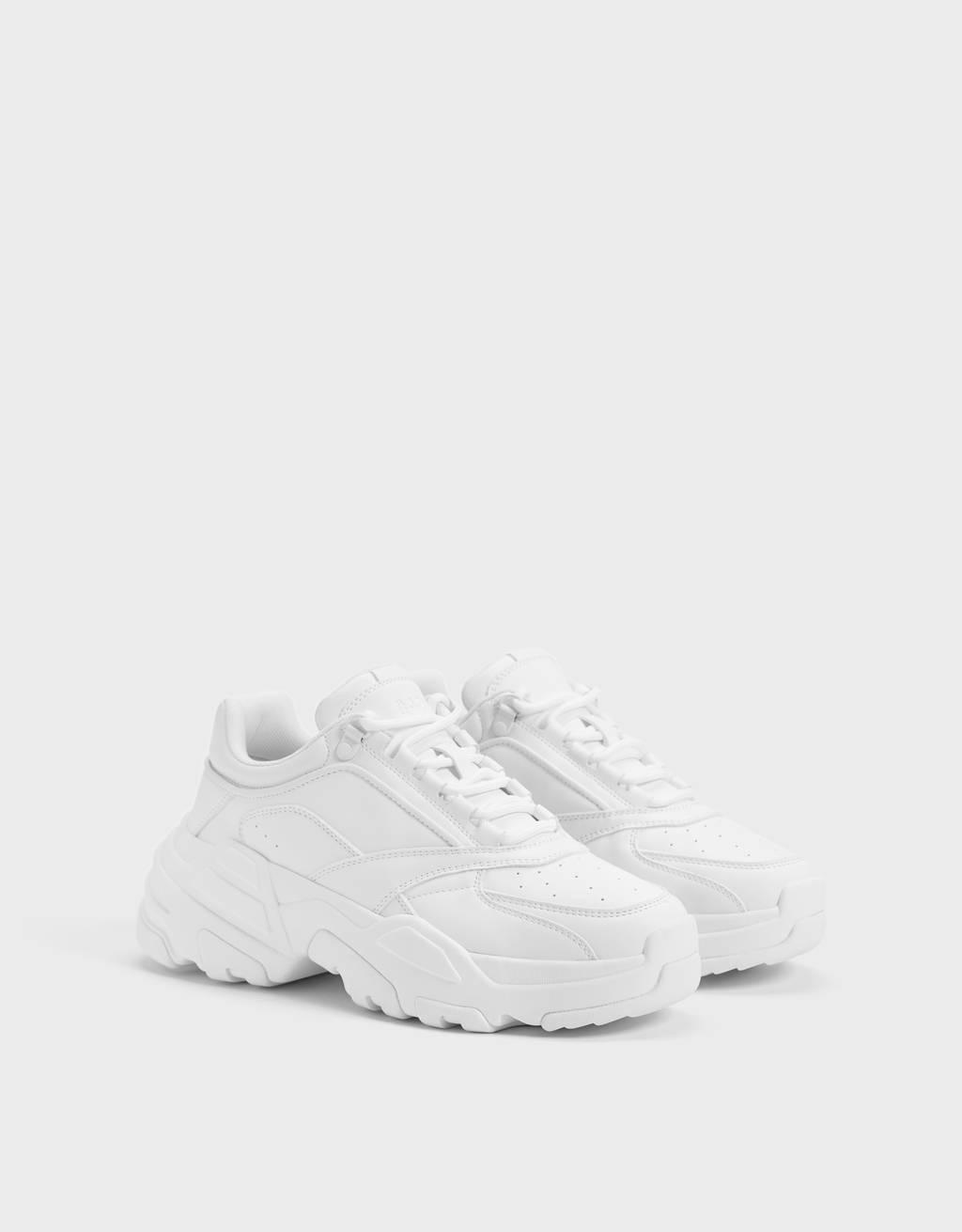 Sneakers con suola XL da uomo