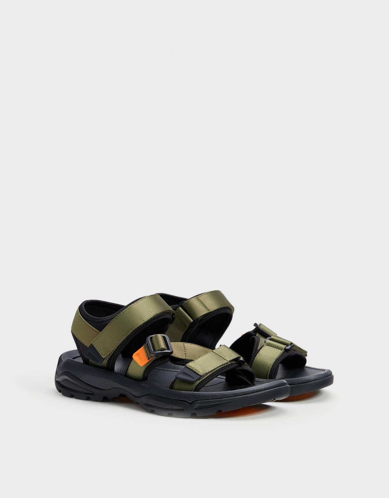Men's contrast technical sandals