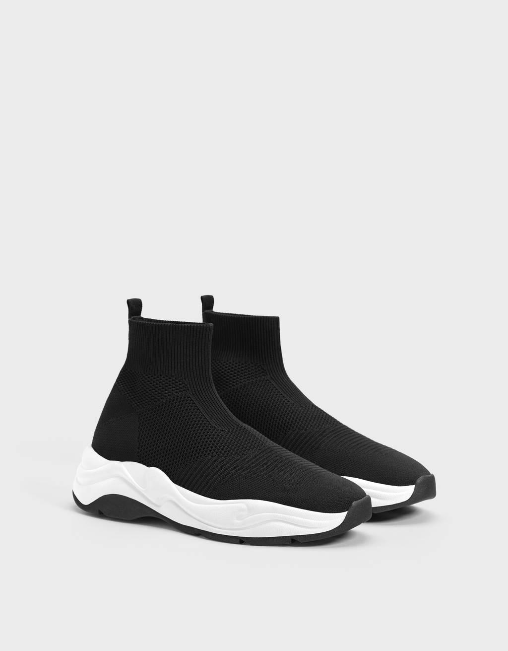Hohe Herren Sneakers mit elastischem Schaft