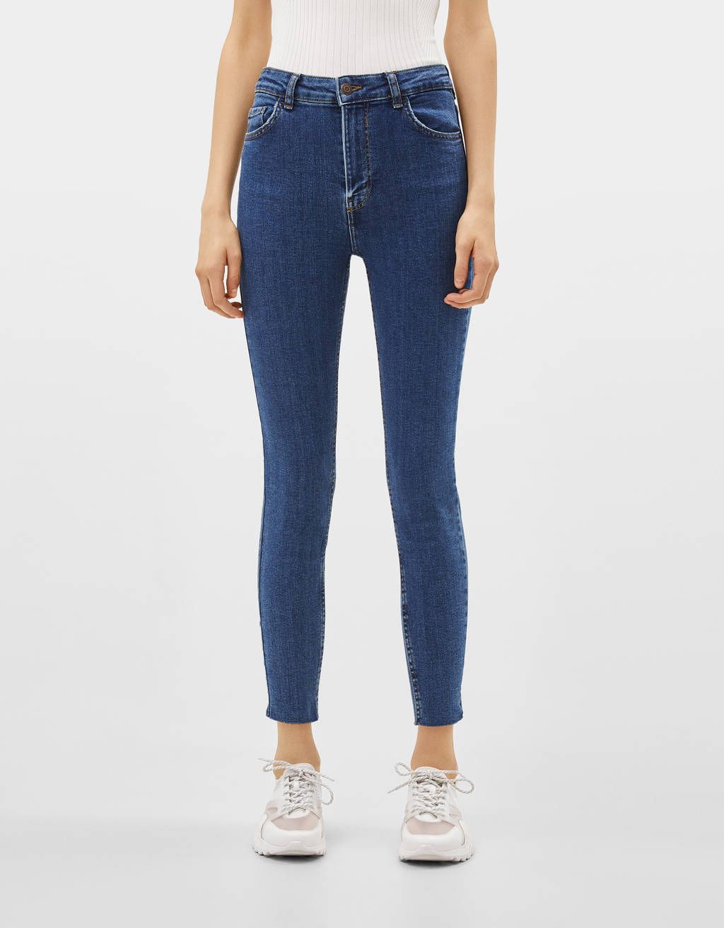Super high-rise cropped skinny jeans