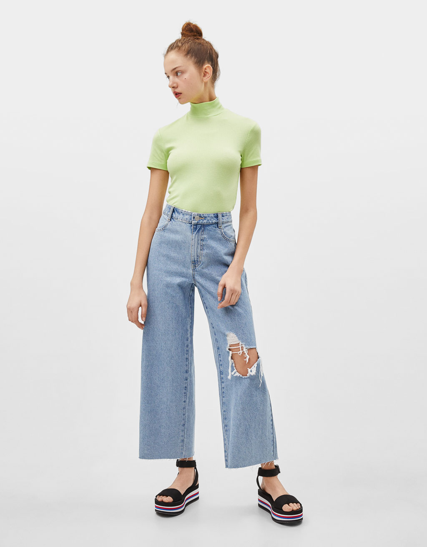Jeans Wide Leg High Rise