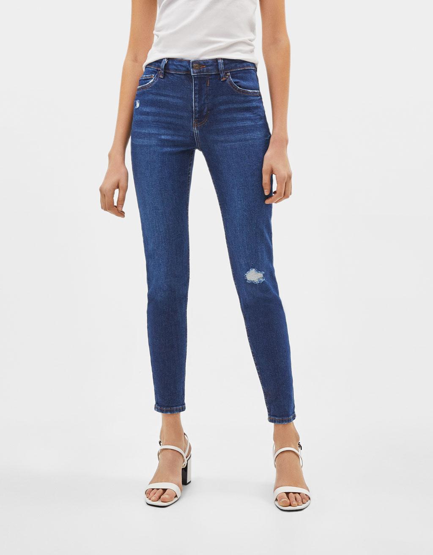 Skinny jeans med mellemhøj talje