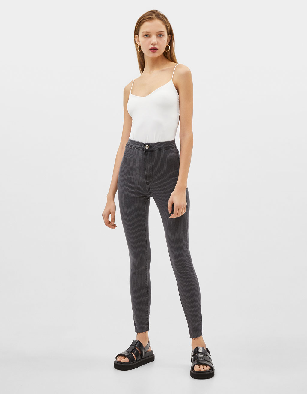 High-rise jeggings