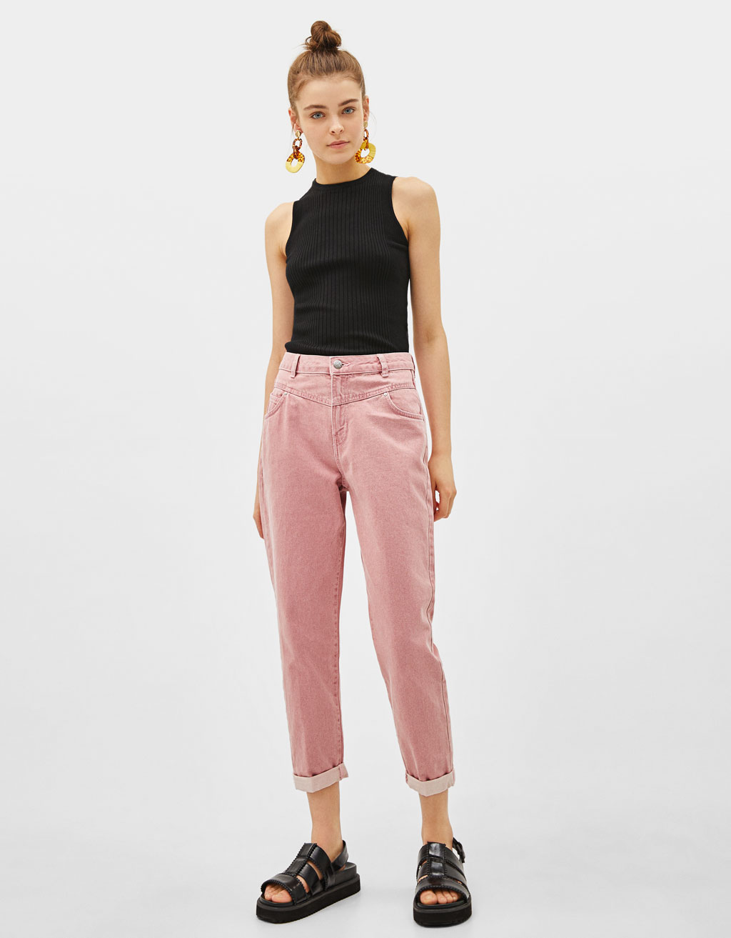 Girlfriend fit trousers