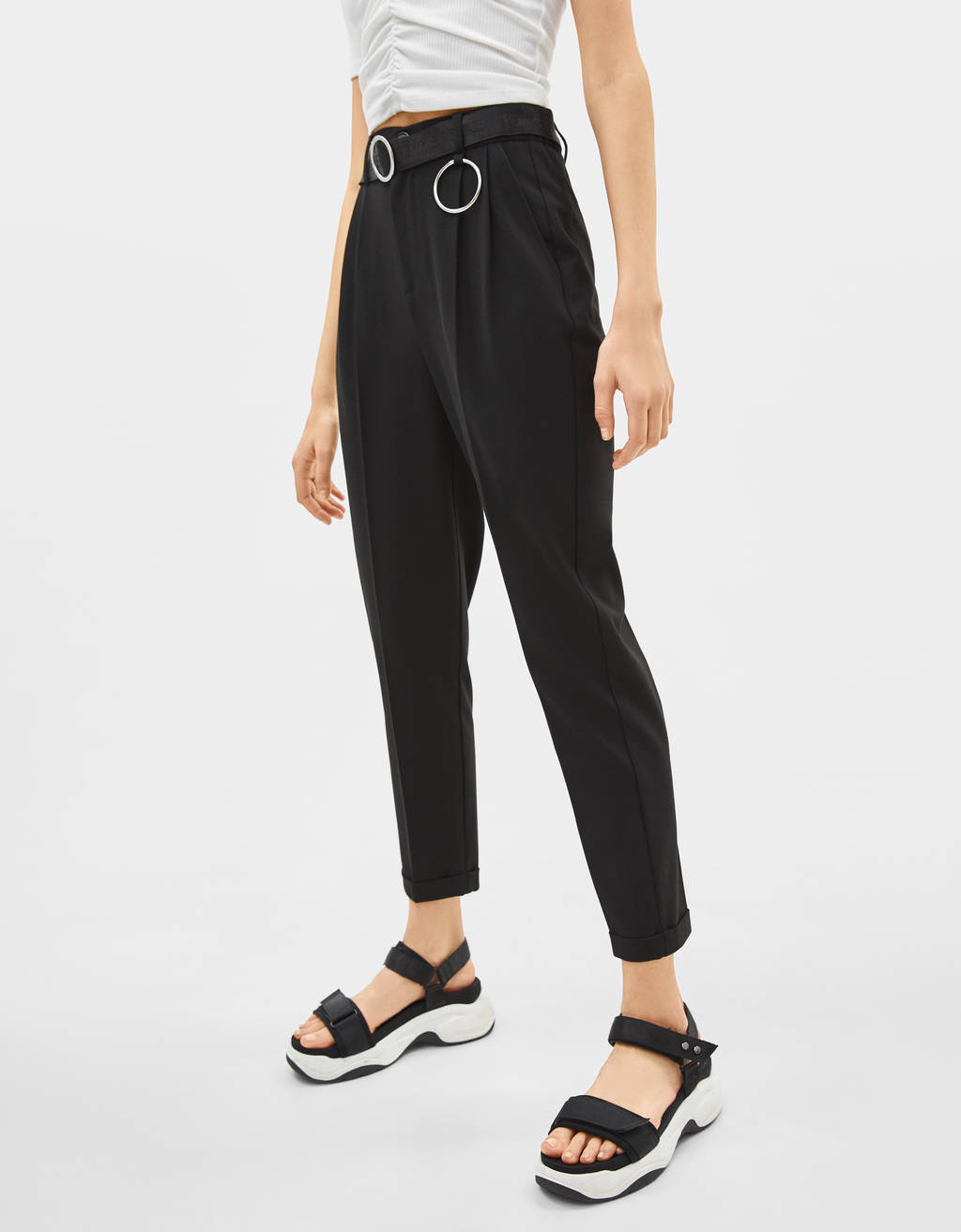 Belted Joggers by Bershka