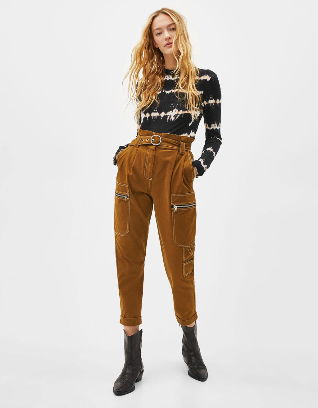 01577ef9e8ad7 Women's Trousers - Spring Summer 2019 | Bershka