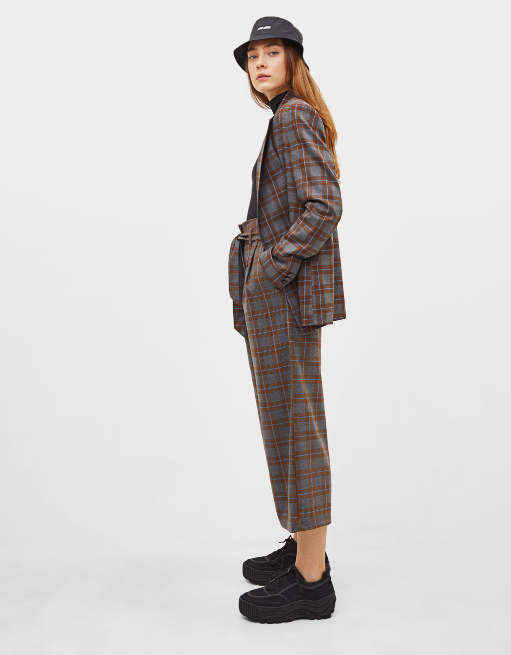 Checked culottes