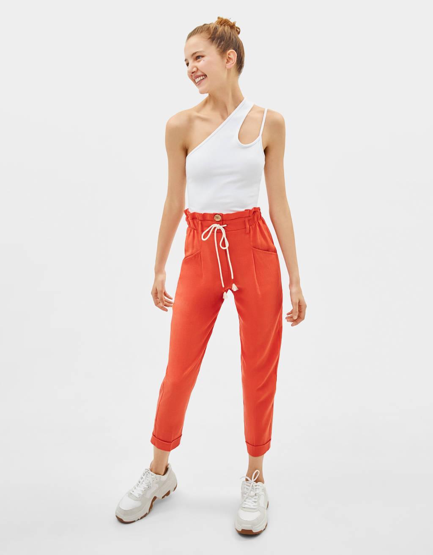 Pantalon jogger en lin