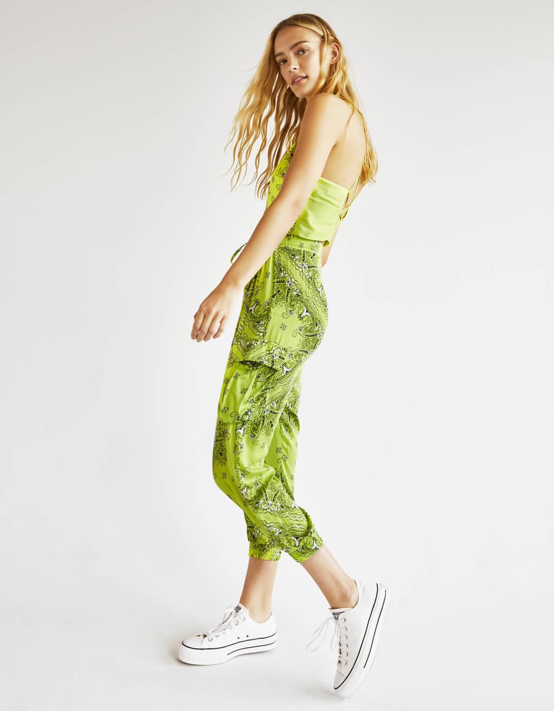 Pantalon imprimé cachemire