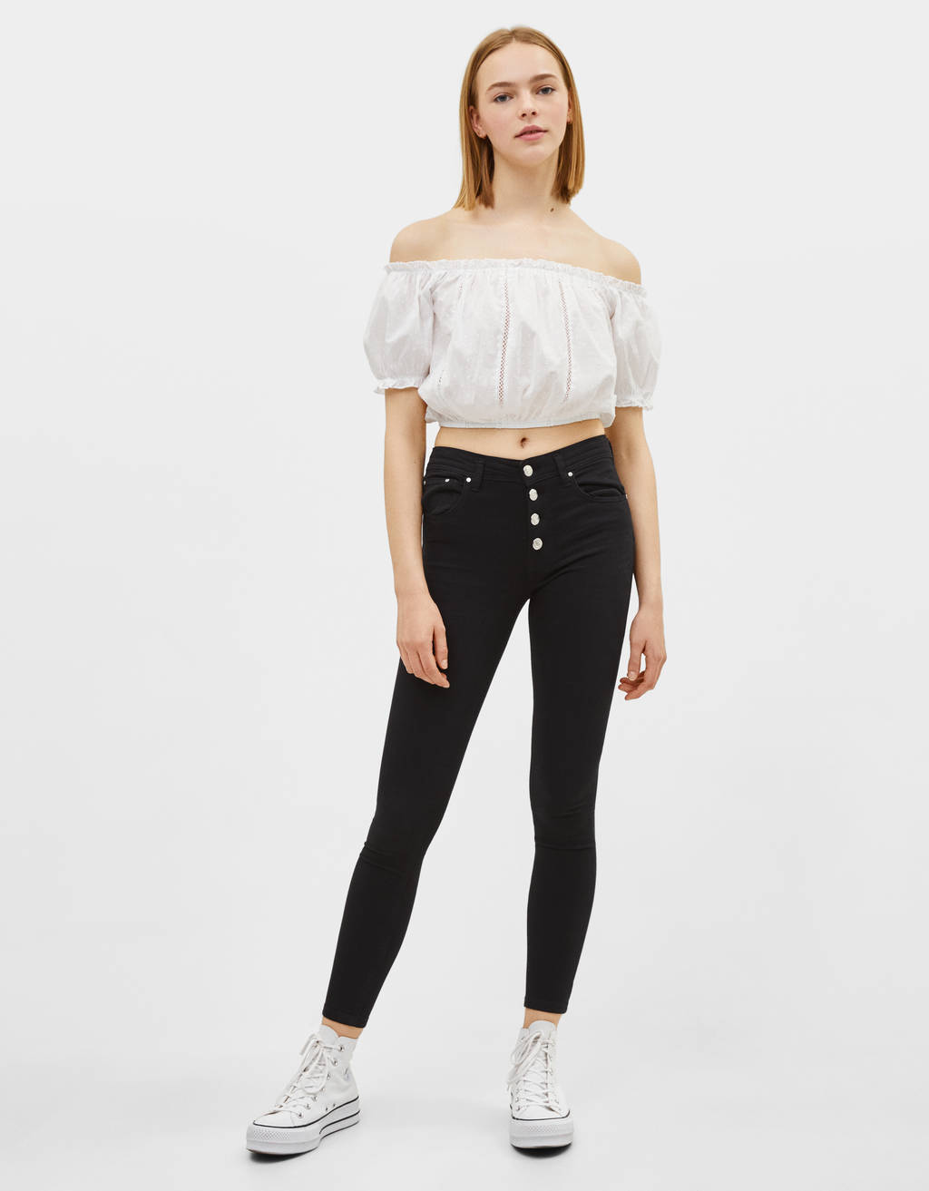 Pantalon push up taille basse