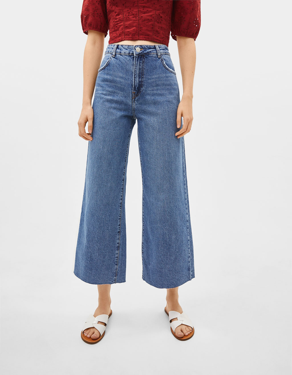 Jeans Wide Leg High Rise