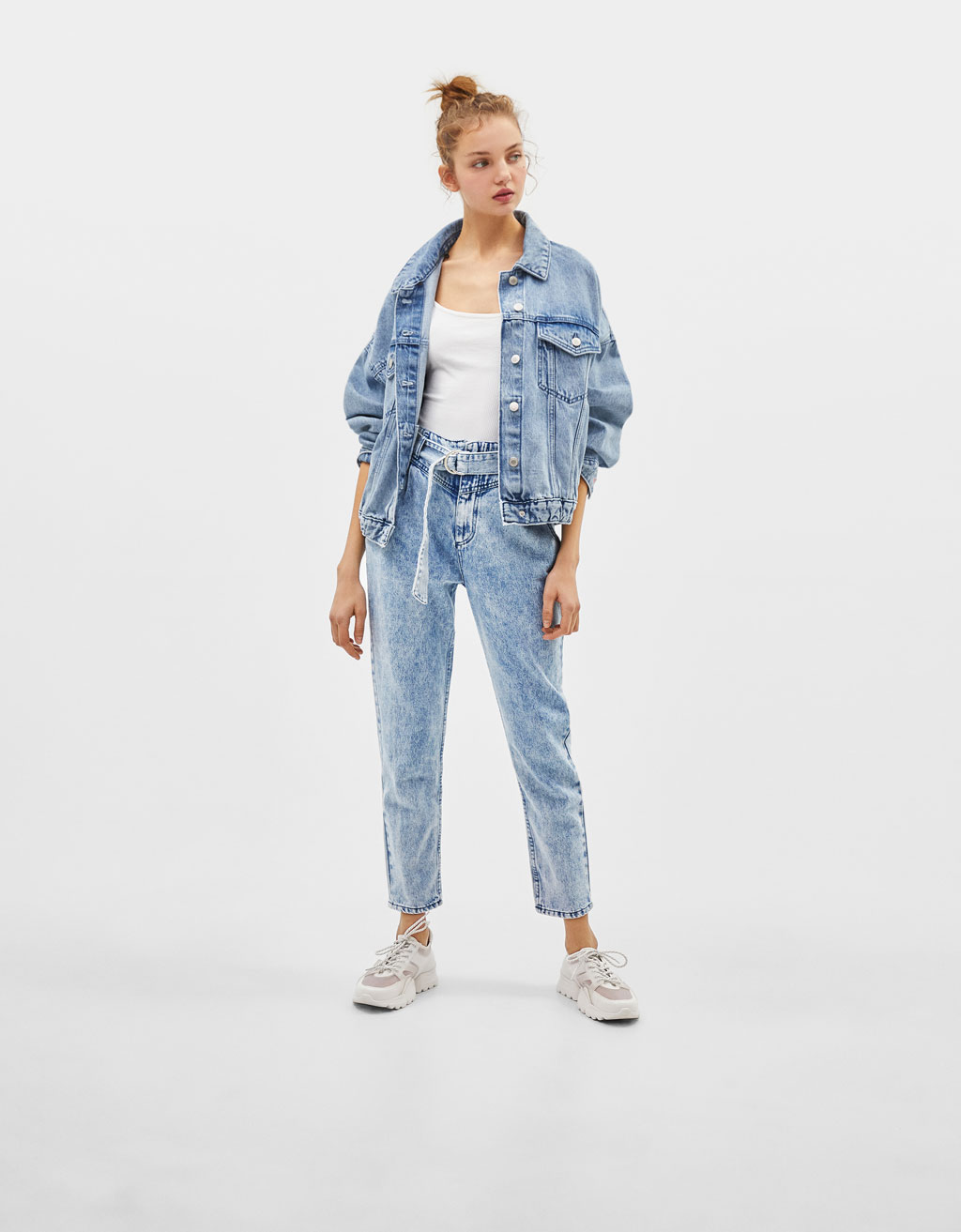 Jeans Mom High Waist Acid wash