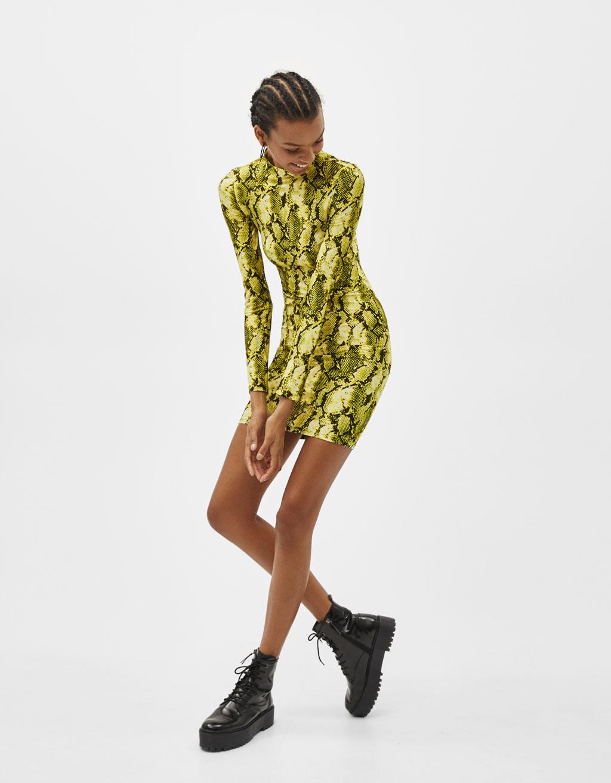 Haljina sa zmijskim uzorkom