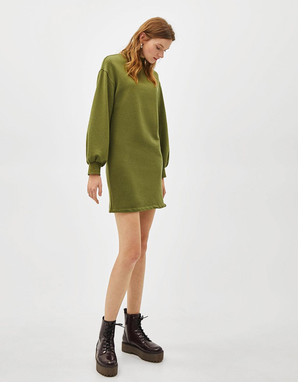 Vestido verde militar bershka