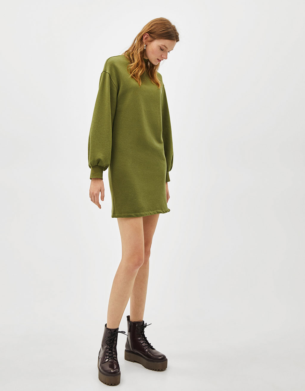Sweatshirt Style Dress by Bershka