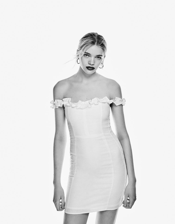 Vestido blanco bershka
