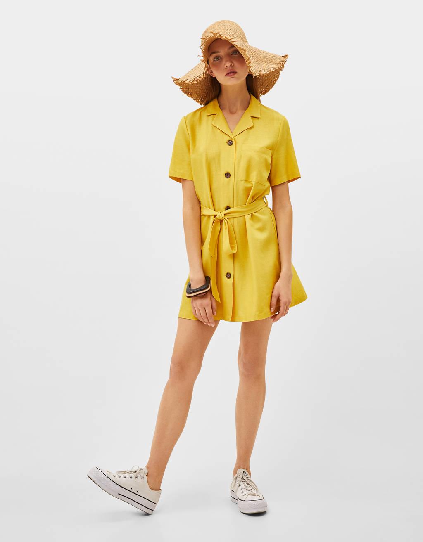 Short belted dress