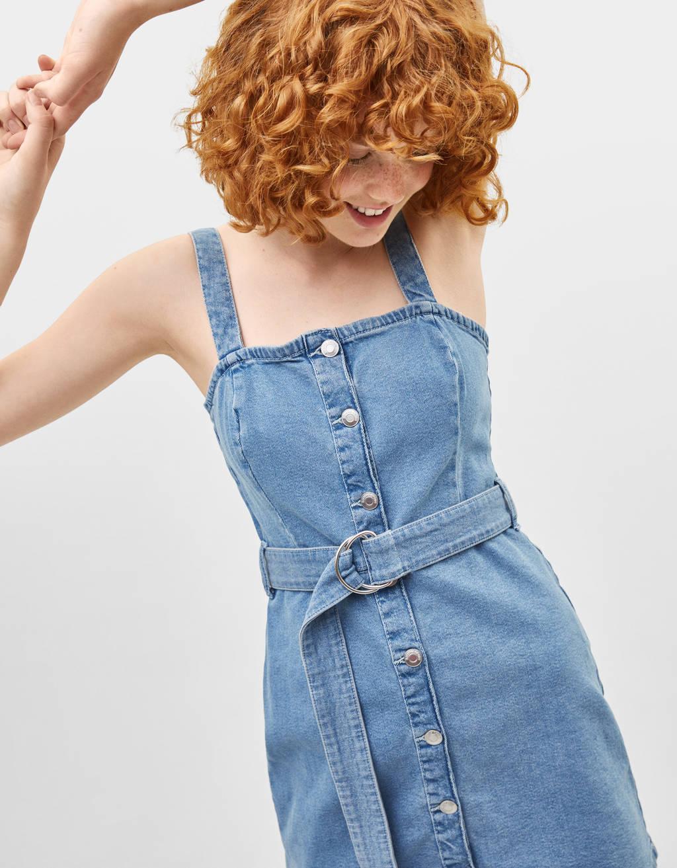 Robe courte en jean