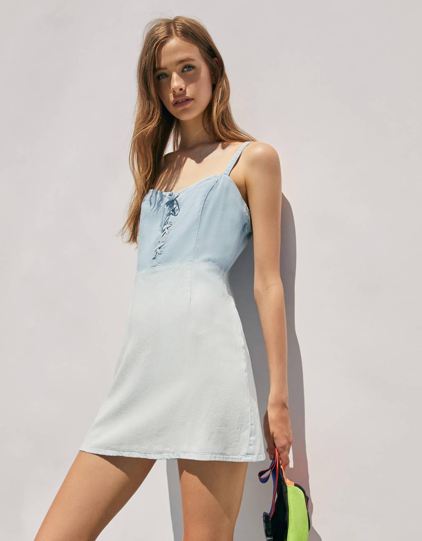 Jeanskleid aus Lyocell® im Washed-Look