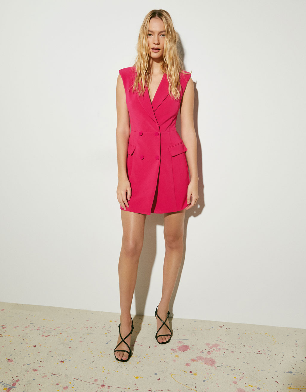 6aa1725421617 Blazer-style dress - Dresses - Bershka Singapore