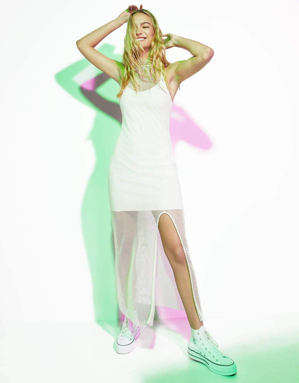 Μακρύ διχτυωτό φόρεμα