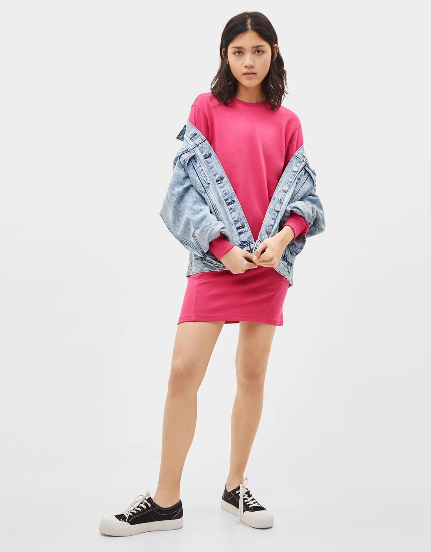 Short plush dress