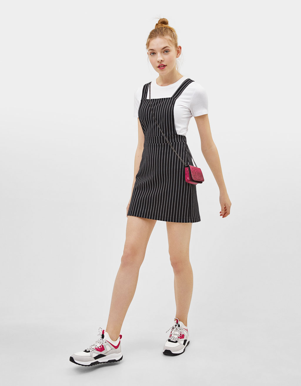 Printed pinafore dress