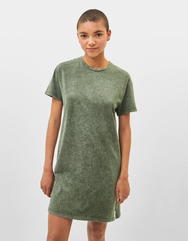 Vestido corto con Acid wash