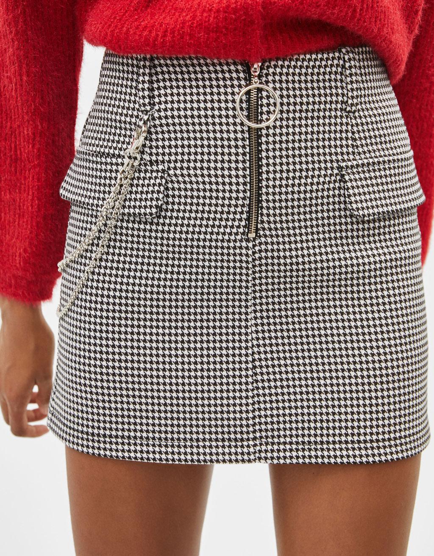 88cf09718b Houndstooth mini skirt