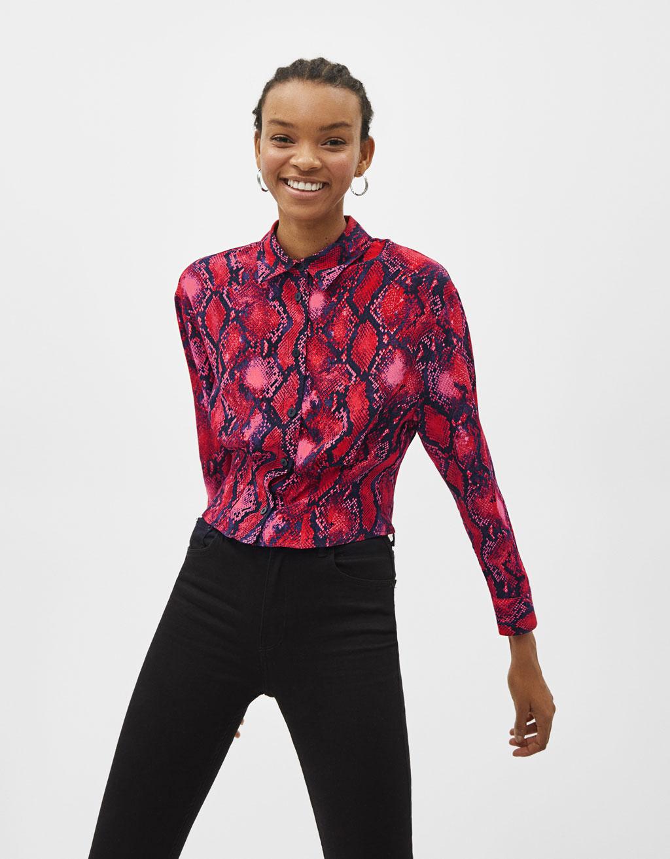 Snakeskin print shirt