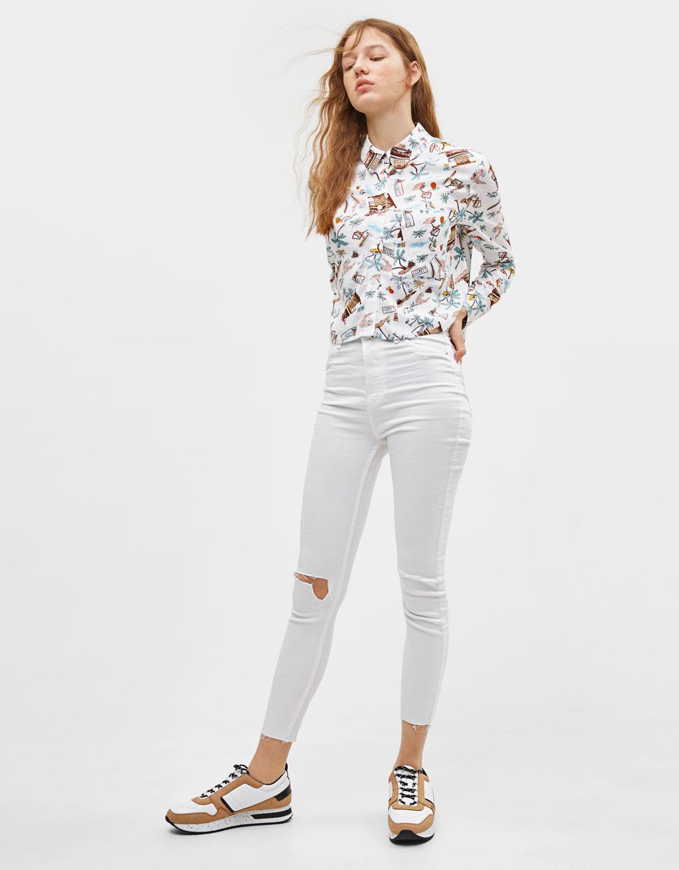Košile s tropickým potiskem