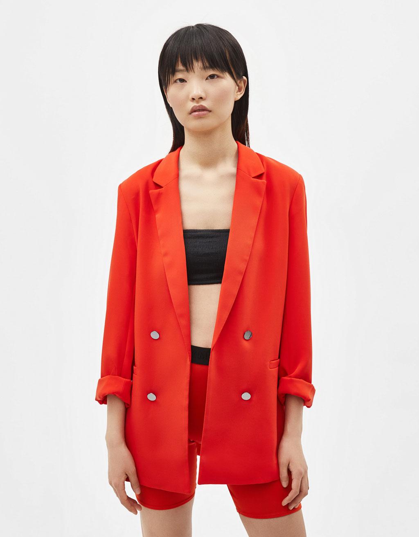 Veste de tailleur femme corail