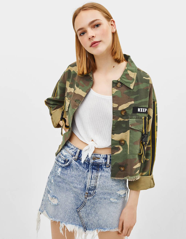 Military-style overshirt