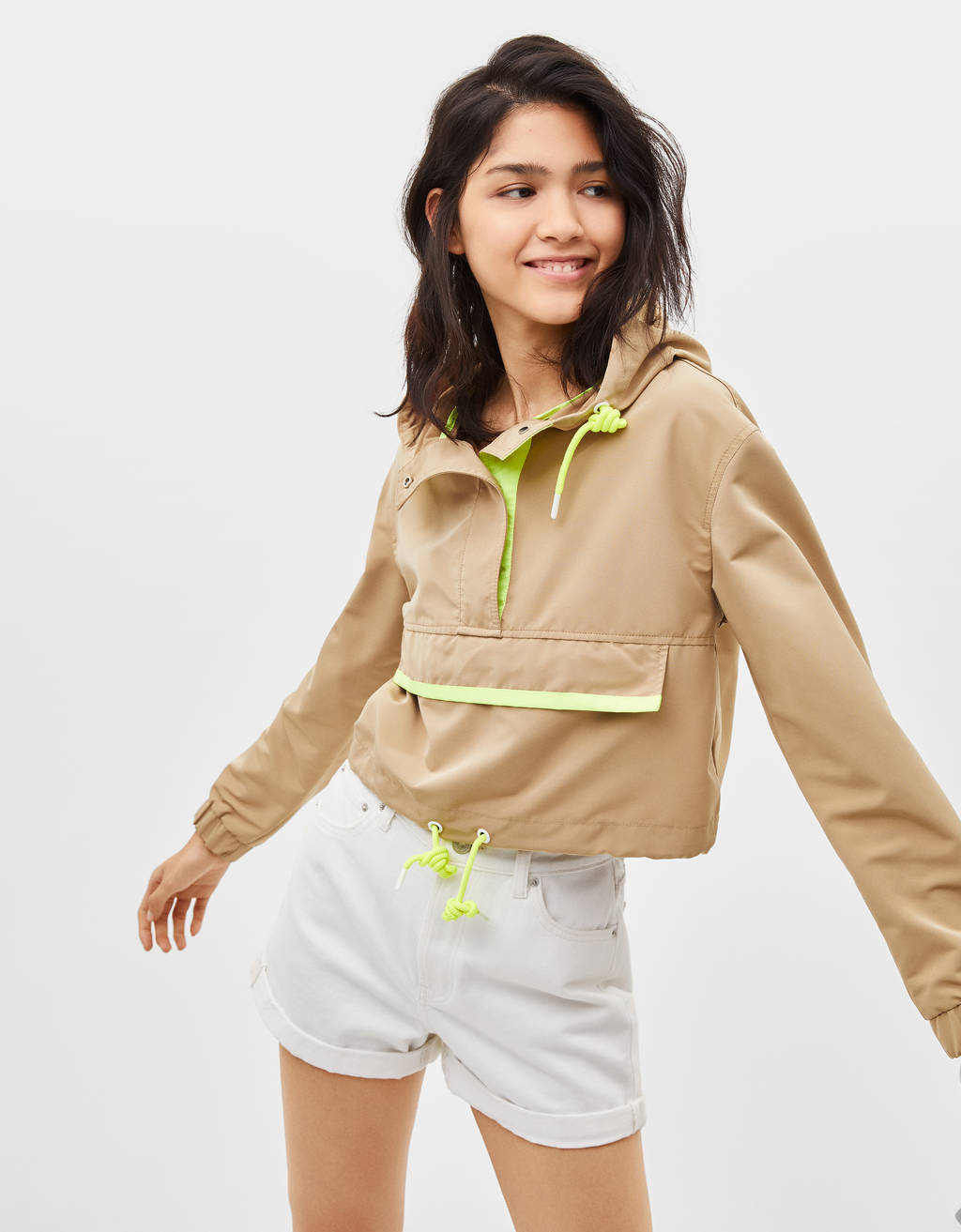 Cropped pouch pocket jacket