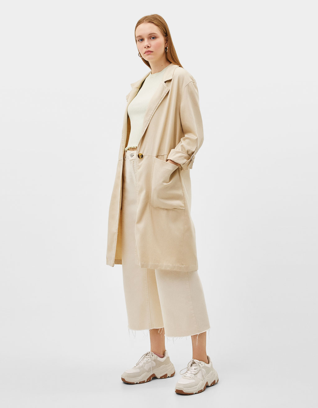 Lightweight TENCEL® trench coat