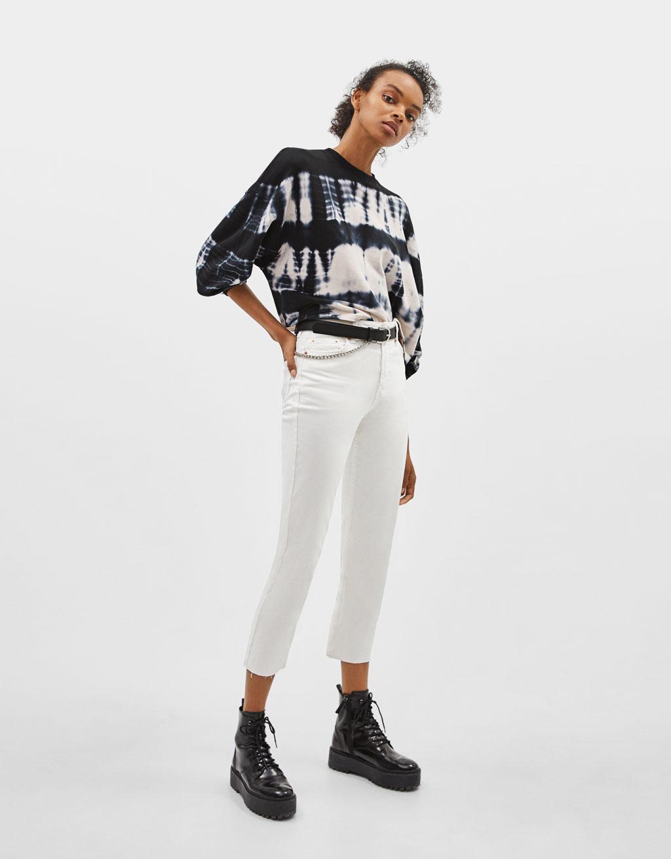 Tie-dye print sweatshirt