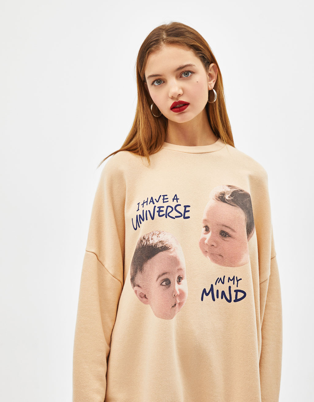 Oversized sweatshirt with photo print