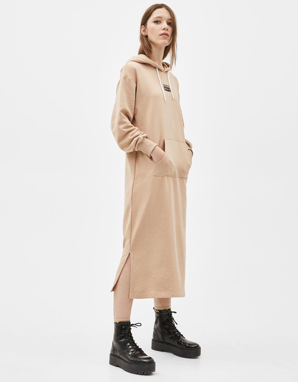Robe sweat à capuche