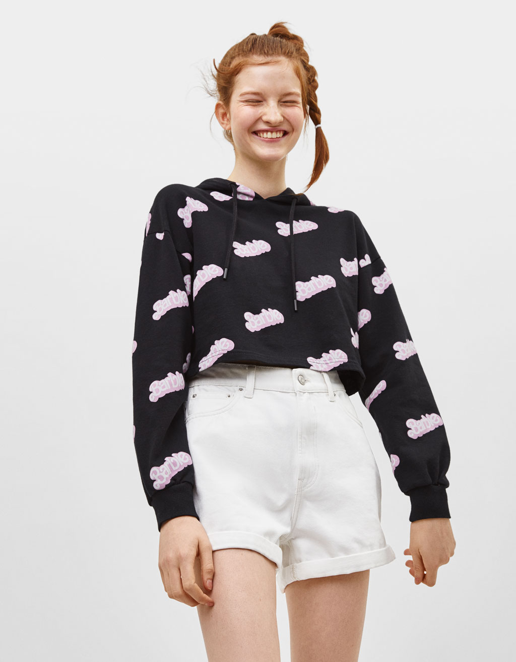 Sweatshirt Barbie mit Kapuze