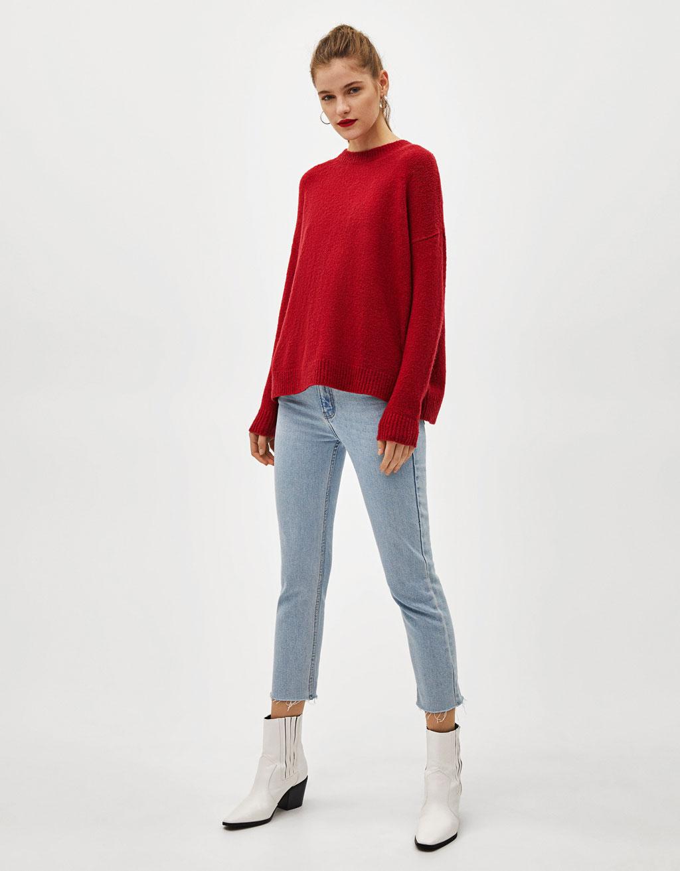 Sweater Oversize De Malha by Bershka