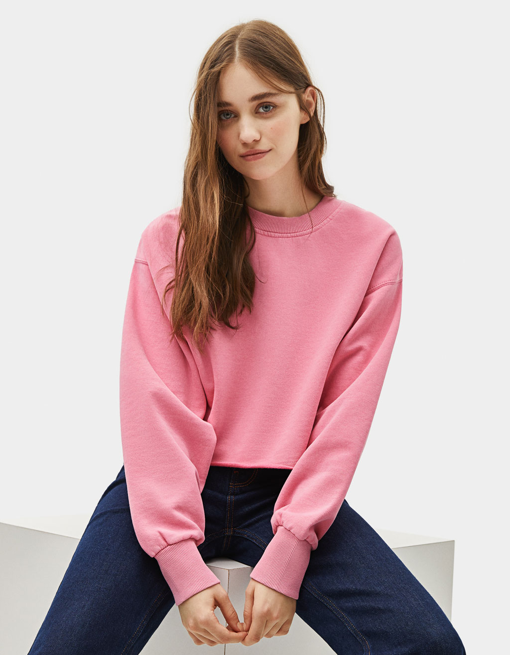 Cropped sweatshirt