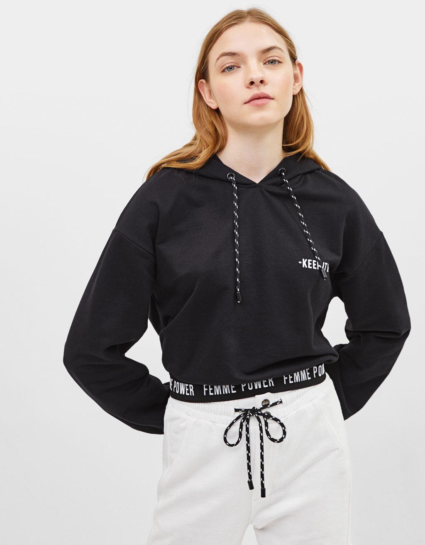 Bedrucktes Sweatshirt mit Kapuze
