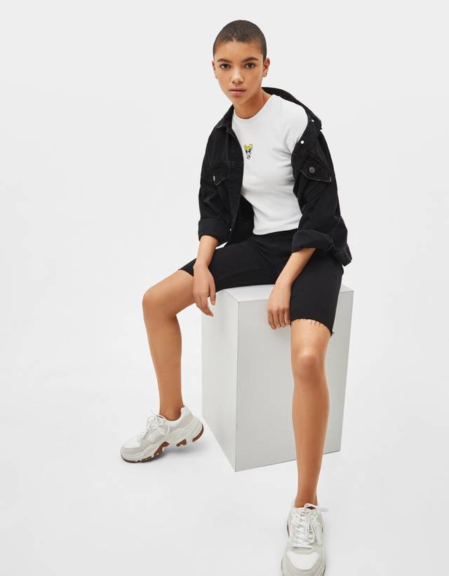 cf95d6aa Knit T-shirt - SALE - Bershka United States