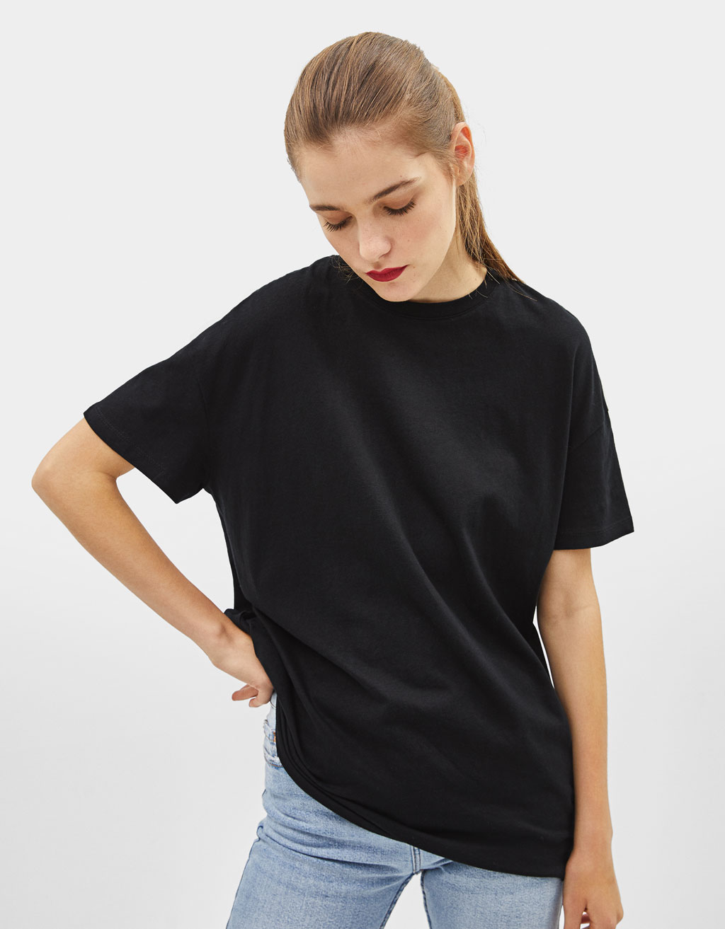 Oversized short sleeve T-shirt